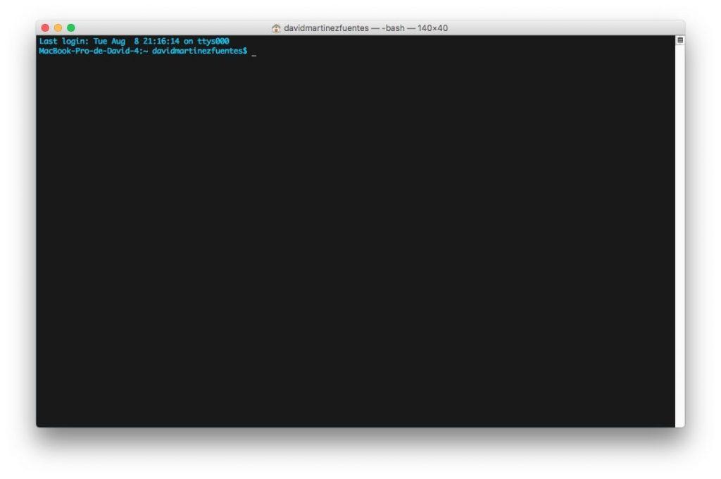 time machine desde el terminal de MacOS
